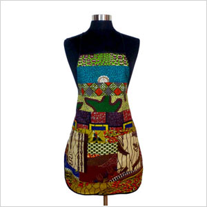 African wax-print apron