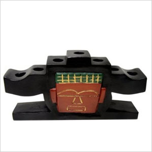 Kwanzaa mask candle holder