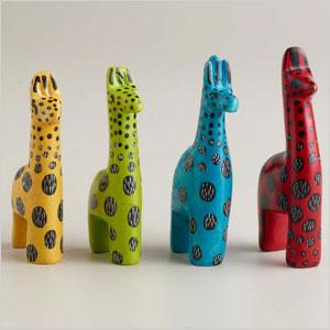 Mini soapstone giraffes