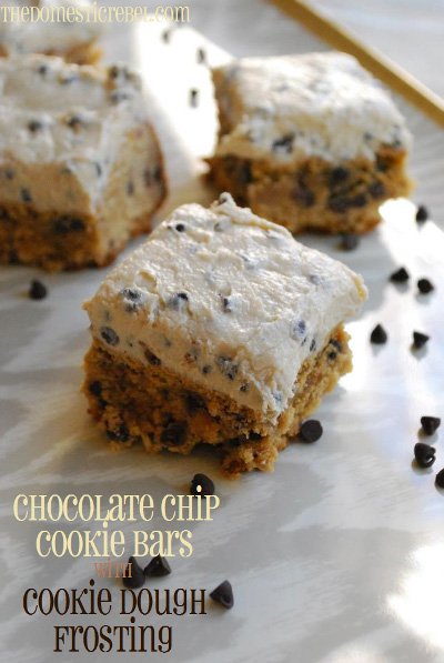 Chocolate Chip Cookie with Chocolate Chip Cookie Dough Frosting