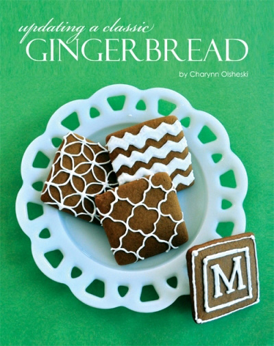 Modern Gingerbread Cookies