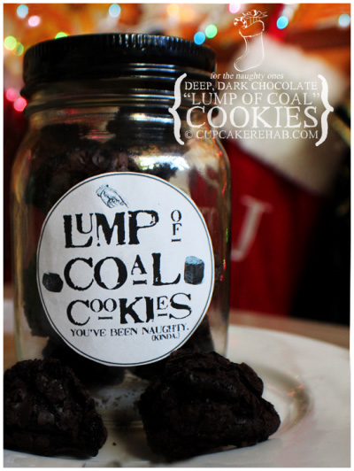 Lump of Coal Cookies