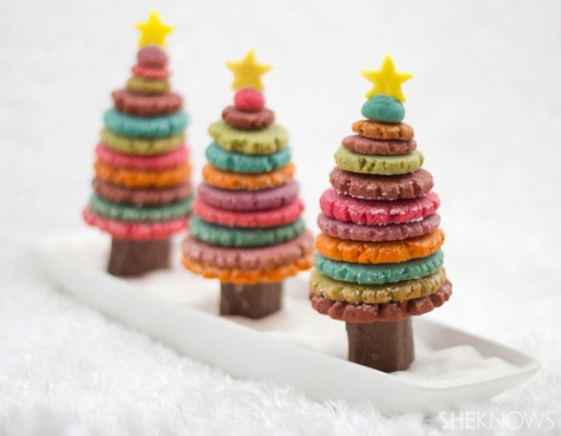 Colorful Christmas Tree Cookies