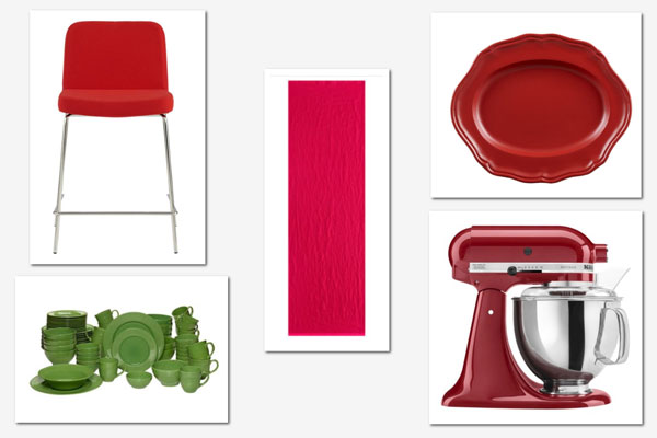 Decorating with red and green: Kitchen