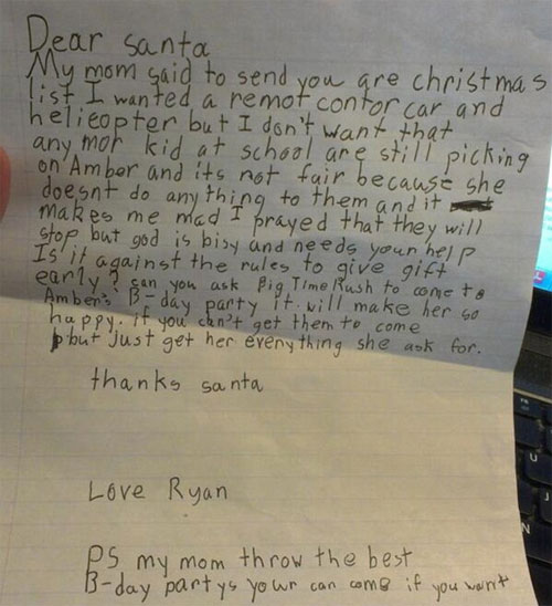 Kids ask for the craziest gifts
