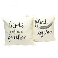 Birds of a feather pillows