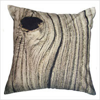 Weathered wood toss cushion