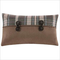 Plaid accent pillow