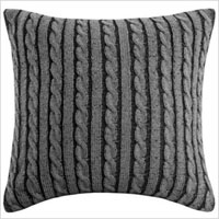 Sweater knit accent pillow,