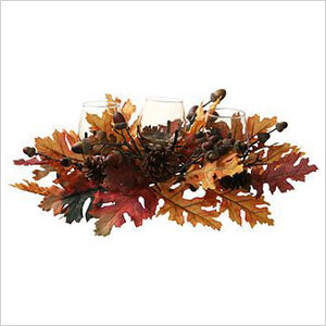 Fall harvest votive centerpiece