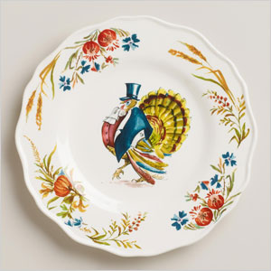 Turkey scalloped plate