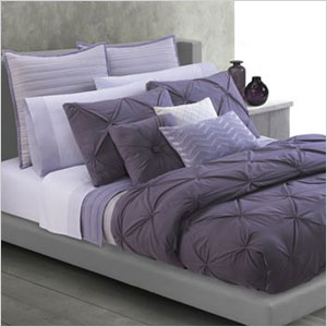 Purple twist duvet