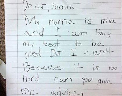 Dear Santa: Can you give me advice?