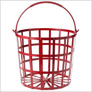 Metal handled basket