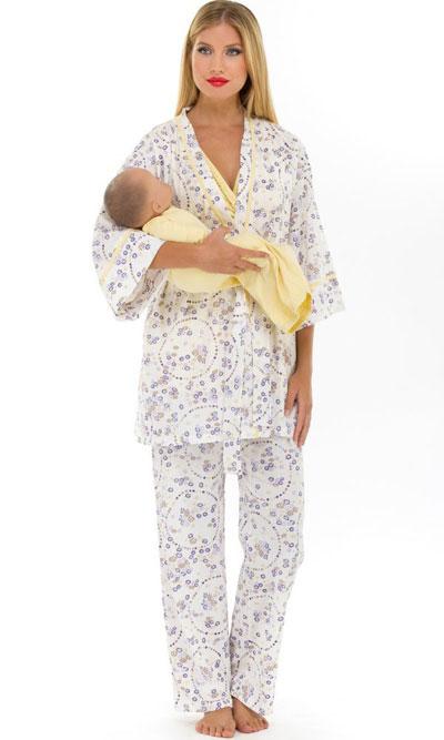 Nursing pajamas and robe