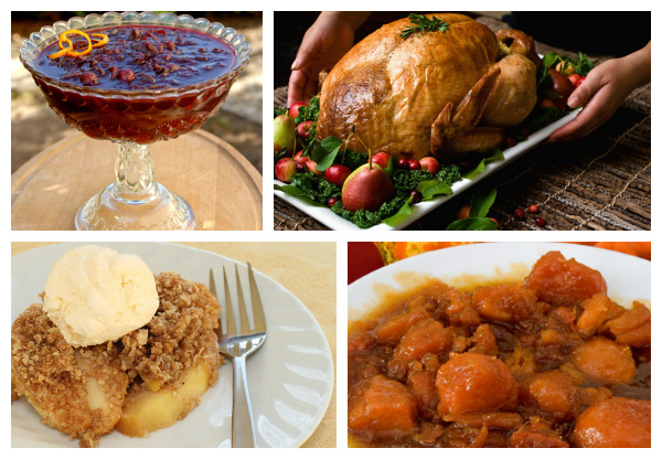 Thanksgiving food collage