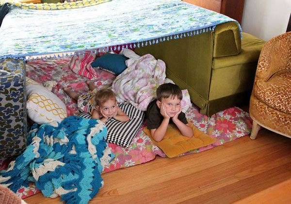 Family fort-and-movie night