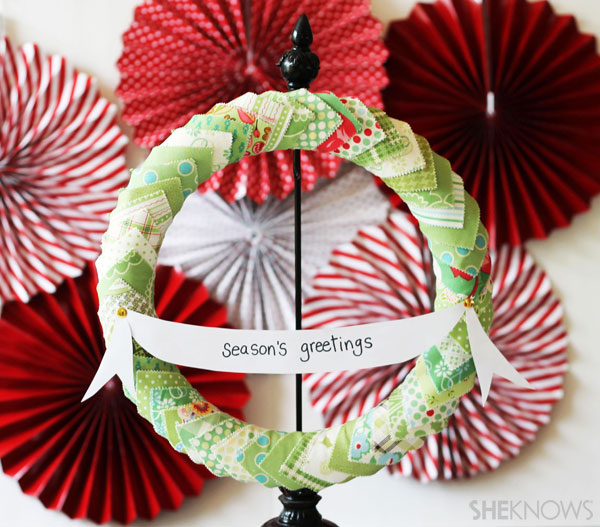 Foam-and-fabric wreath