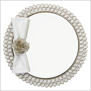 Bling mirrored place mat