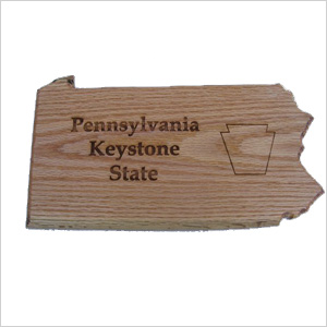 Home state cutting board