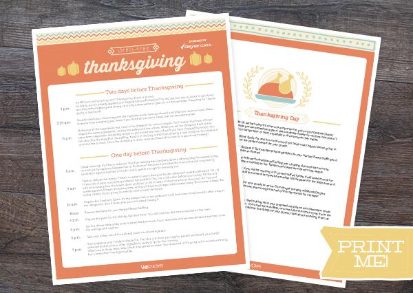 stress free thanksgiving checklist