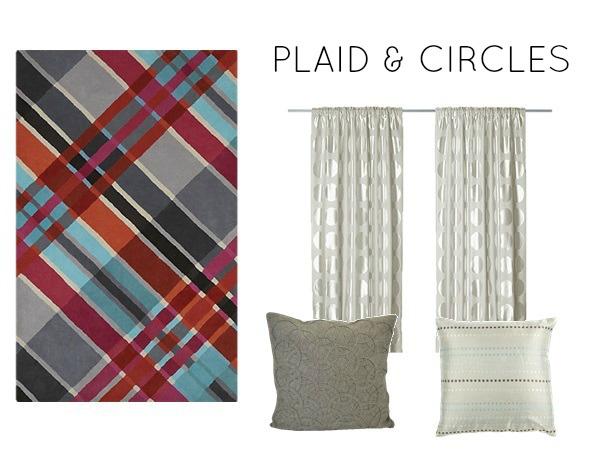 Plaid and circles