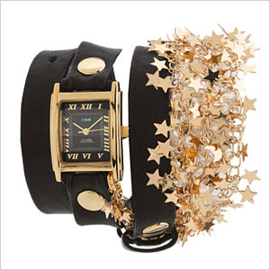 Black and gold stars watch