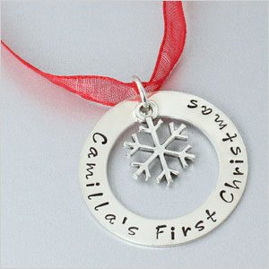 Personlized snowflake ornament