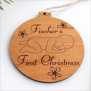 Laser cut wood ornament