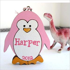 Personalized penguin ornament