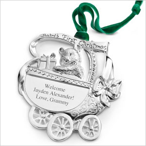 Silver baby carriage