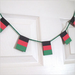 Decorative flag garland