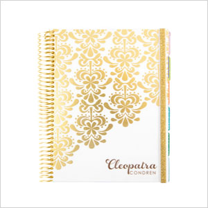 Gold and white life planner