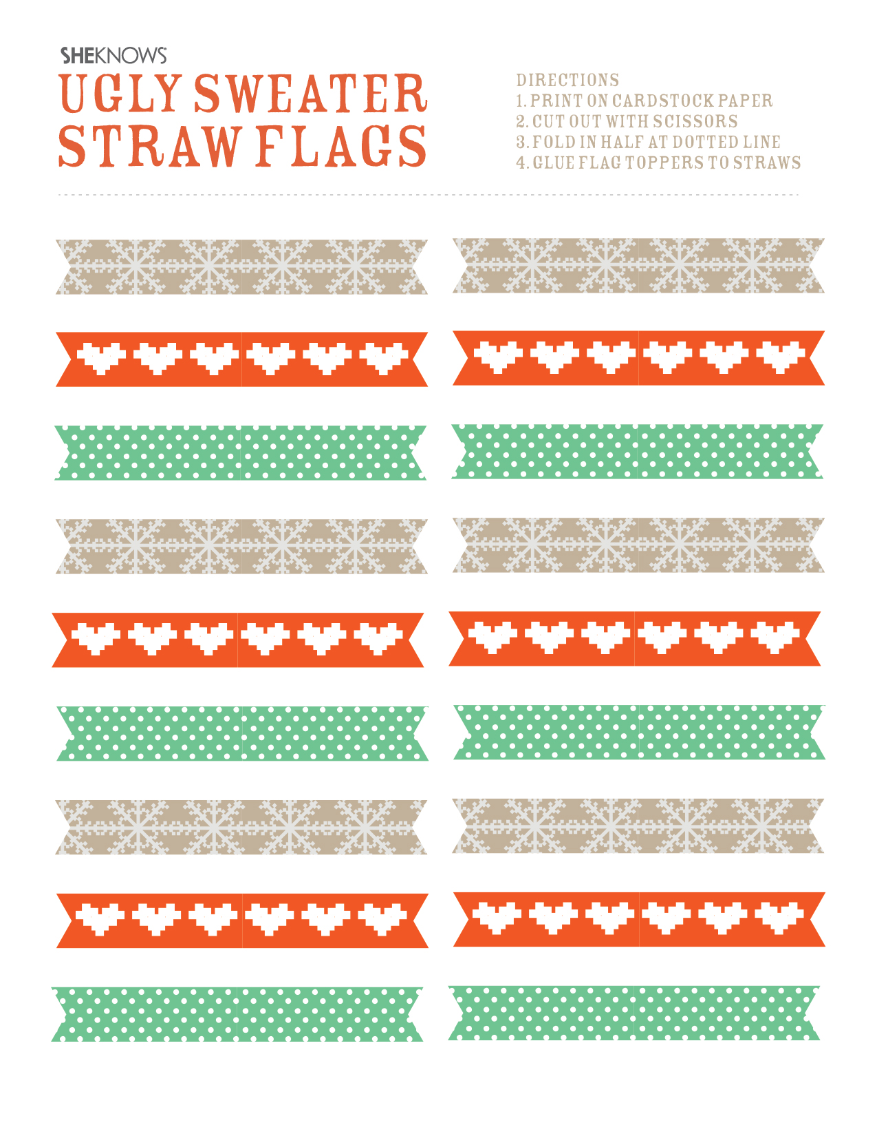 straw flags