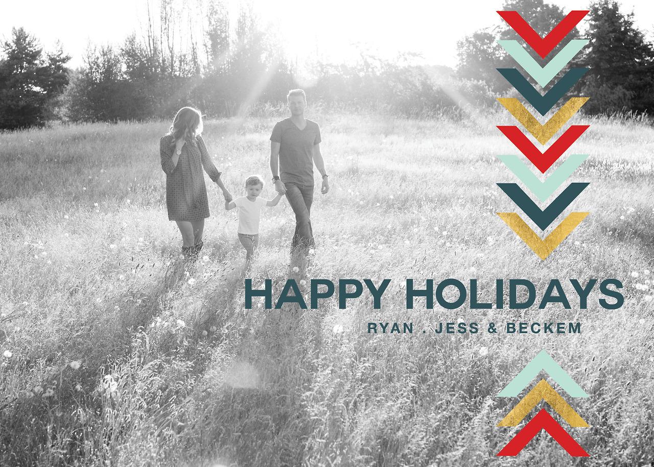 Christmas card trends: 2013 Happy Holidays Card (Caskey Design)