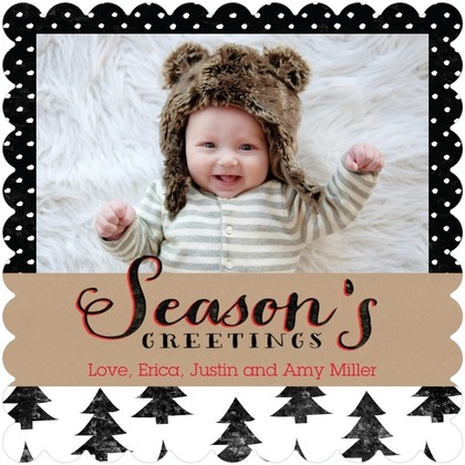 christmas card trends true fir trees flat holiday cards tiny prints - Tiny Prints Christmas Cards