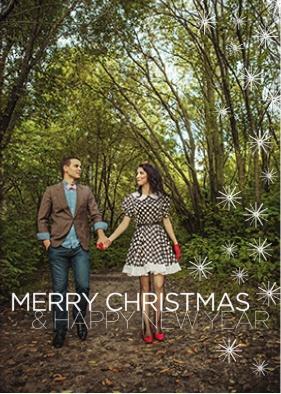 Christmas card trends: Holiday Sparkles Card (SnapFish)br /