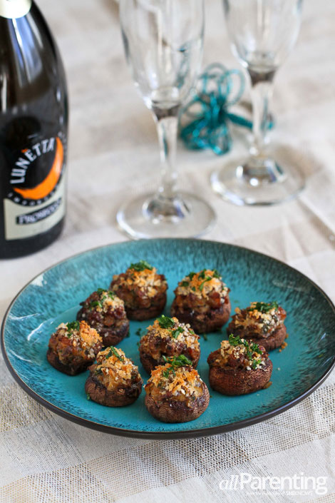 allParenting Stuffed mushrooms with sausage and breadcrumbs