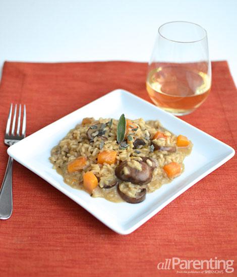 allParenting Mushroom and butternut squash risotto