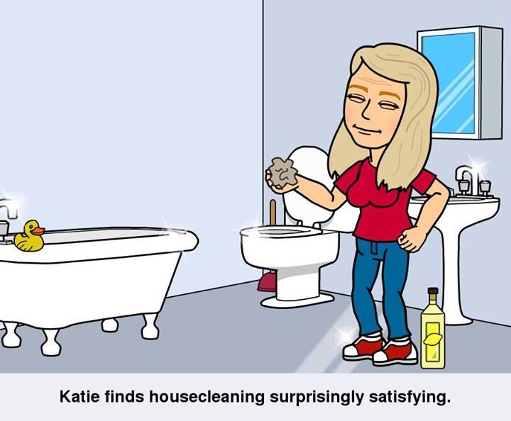 Bitstips- Katie cleaning