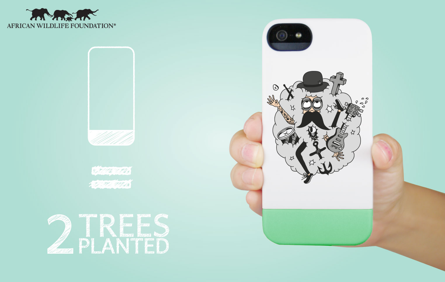 Coconut charitable phone cases