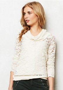 winter feminine trends- lace shirt