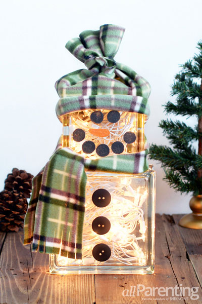 allParenting glass block snowman