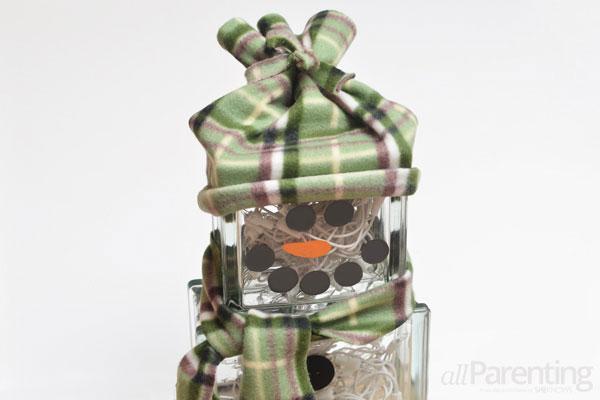 allParenting glass block snowman step 10
