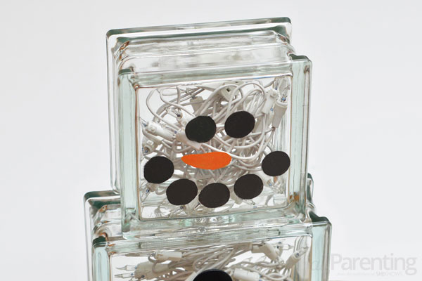 allParenting glass block snowman step 5