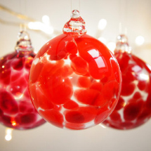 Red blown glass ornament