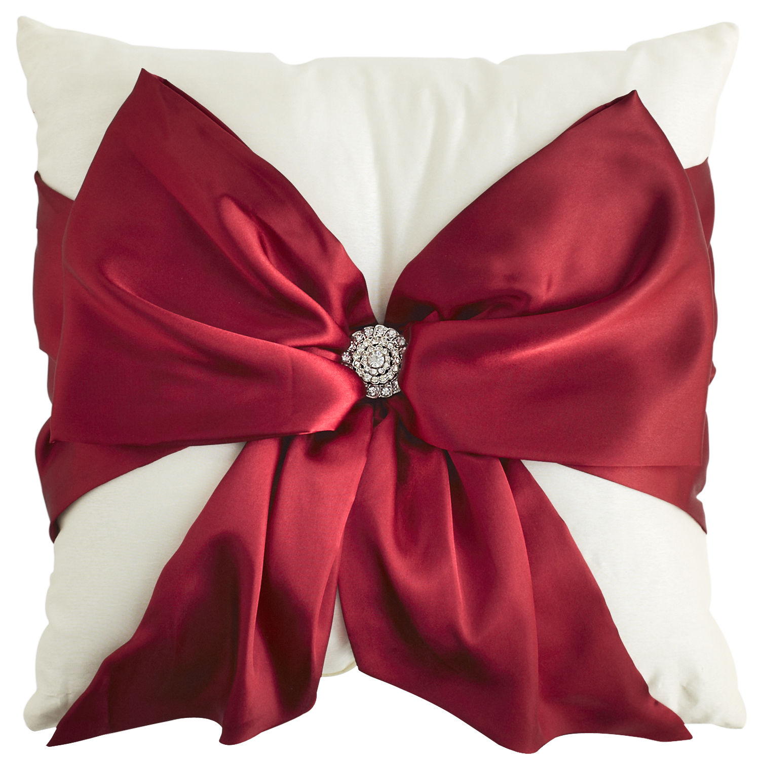 Pier 1 Imports red bow silk pillow