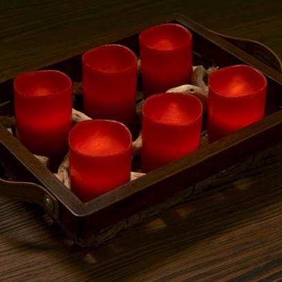 Target flameless votive candle set