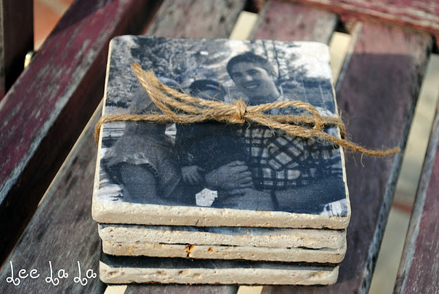 DIY photo gifts: tile coasters