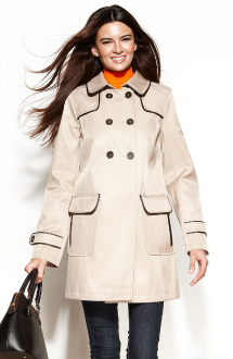 water-repellant coat by DKNY